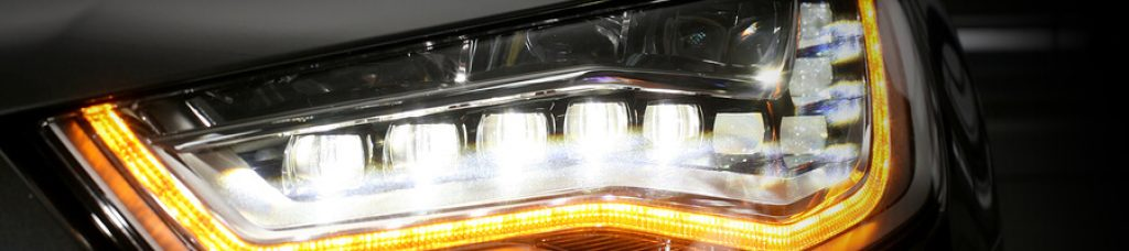 LED headlight with projector lenses